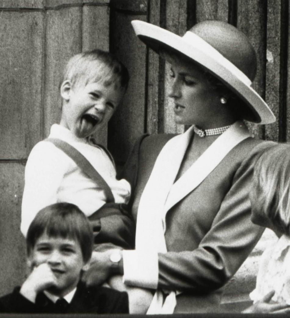 Princes Diana and Prince William