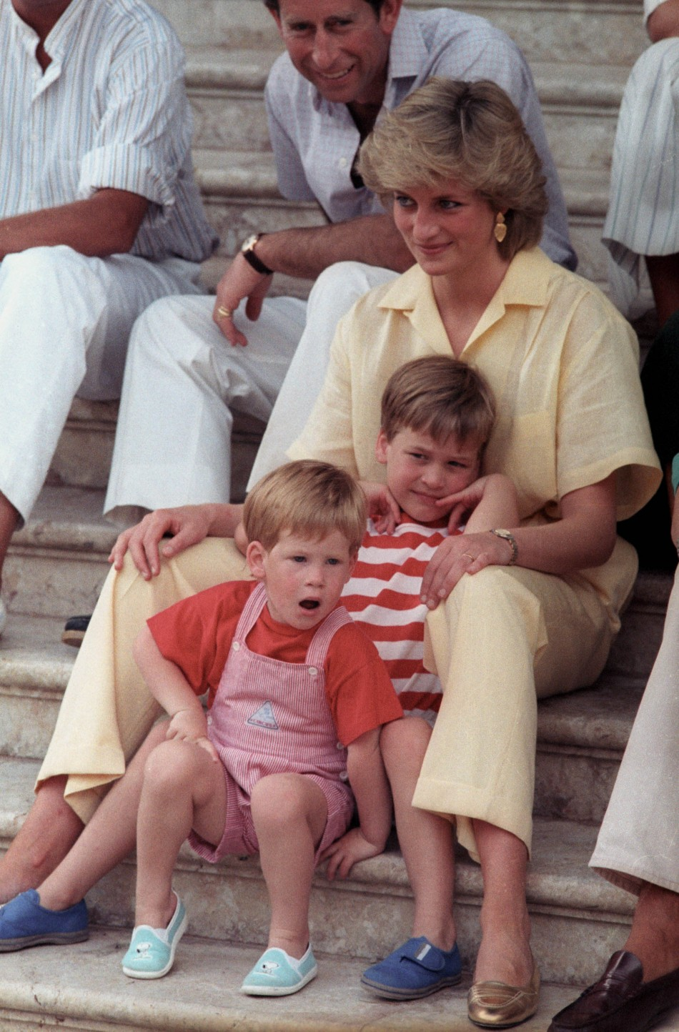 Princes Diana and Prince William