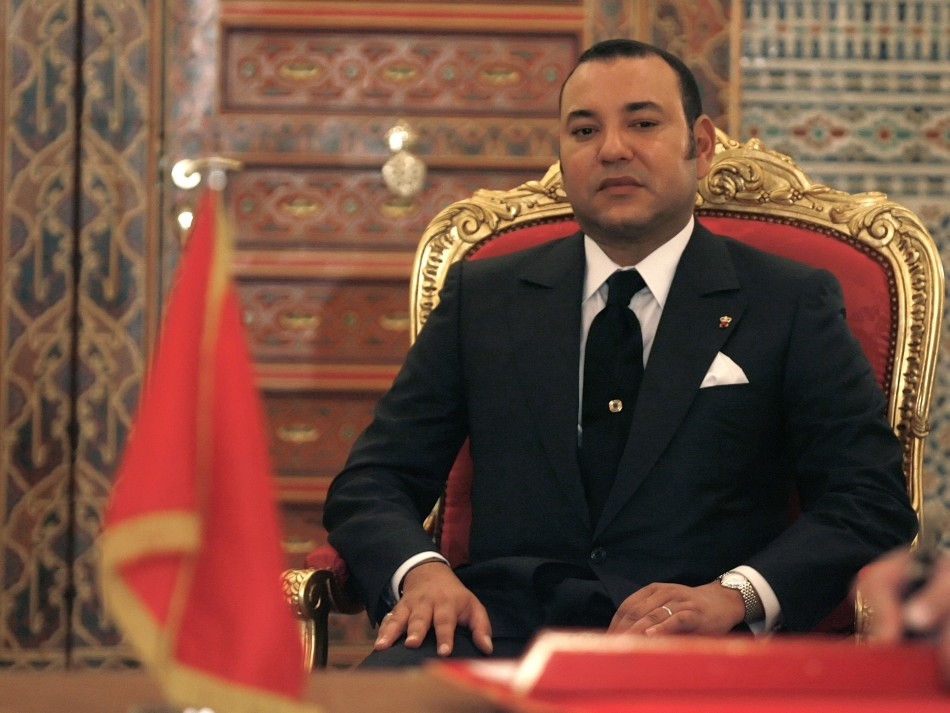 Morocco King France's Mohamed VI attends a signing ceremony at the Royal Palace in Marrakech