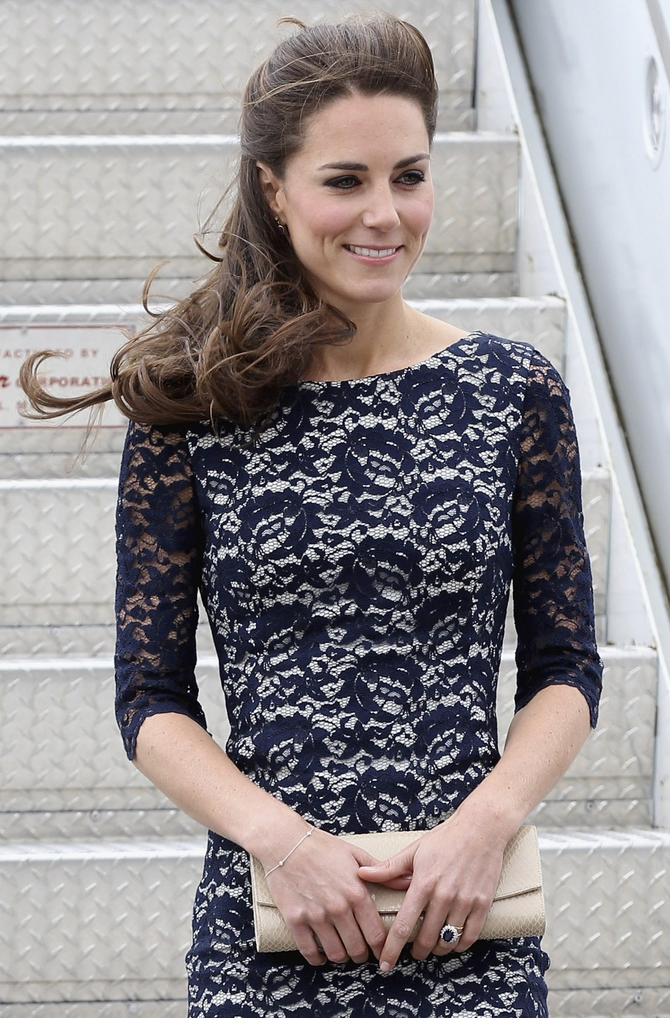 Catherine, Duchess of Cambridge arrives at Macdonald-Cartier International Airport