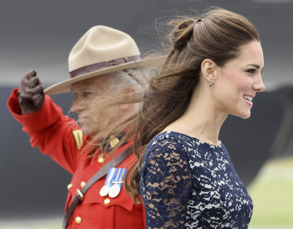 Catherine, Duchess of Cambridge arrives at Ottawas Macdonald-Catier International Airport in Canada