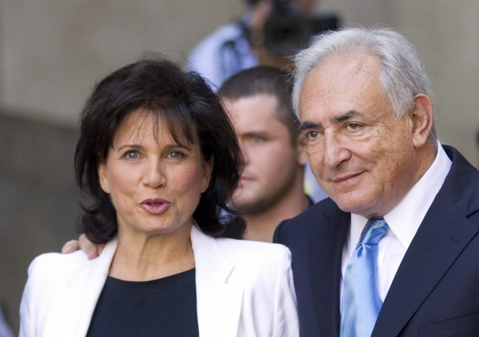 Dominique Strauss-Kahn and his wife Anne Sinclair