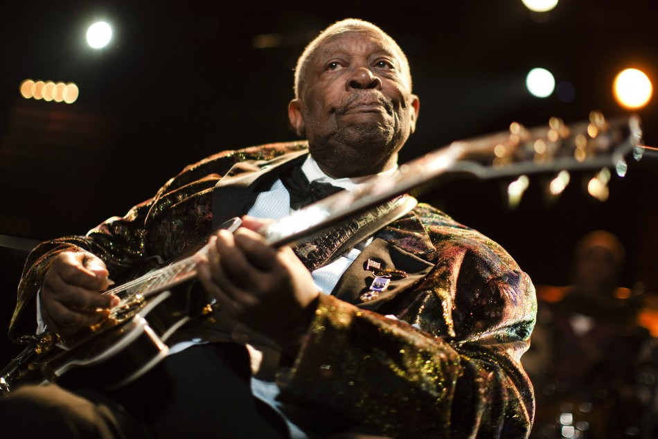 U.S. blues legend B.B. King performs onstage during the 45th Montreux Jazz Festival in Montreux