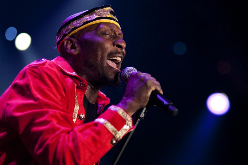 Jamaican reggae star Jimmy Cliff performs onstage during the 45th Montreux Jazz Festival in Montreux