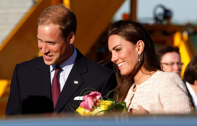 Prince William and Catherine, the Duchess of Cambridge, arrive at the airport in Charlottetown