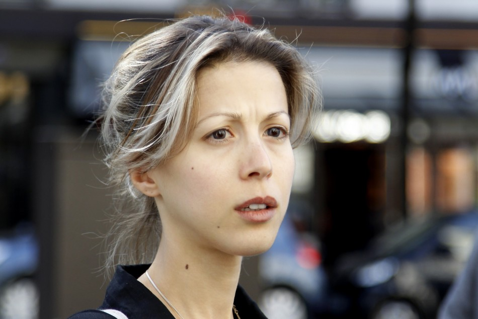 French writer Tristane Banon leaves the office of her lawyer David Koubbi in Paris