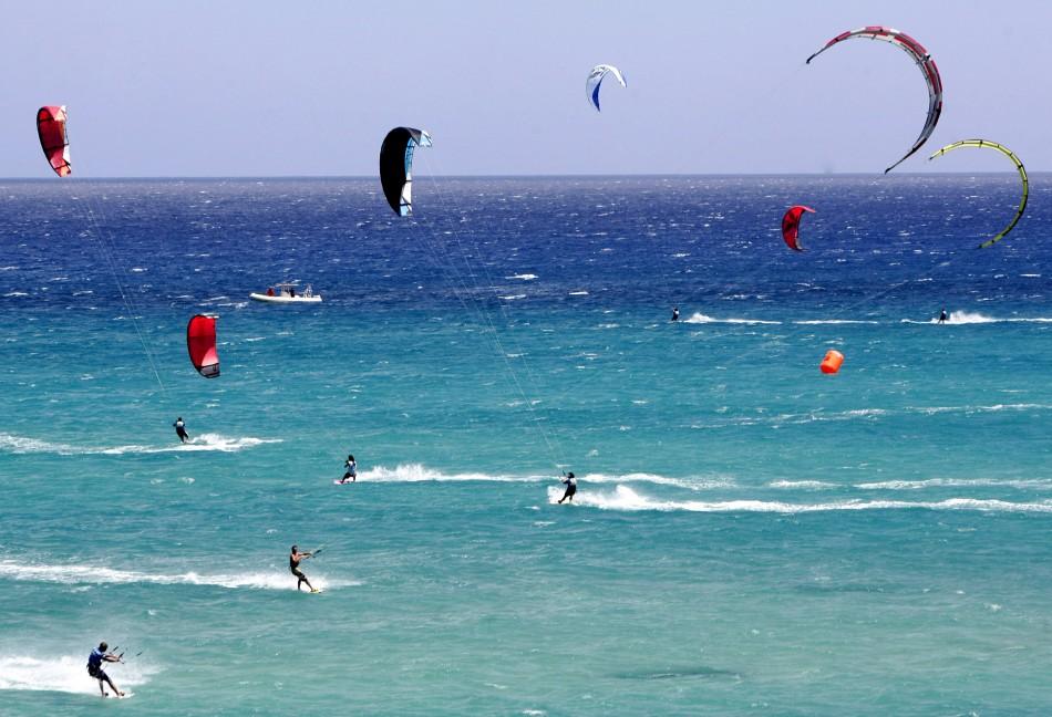 Kiteboarders