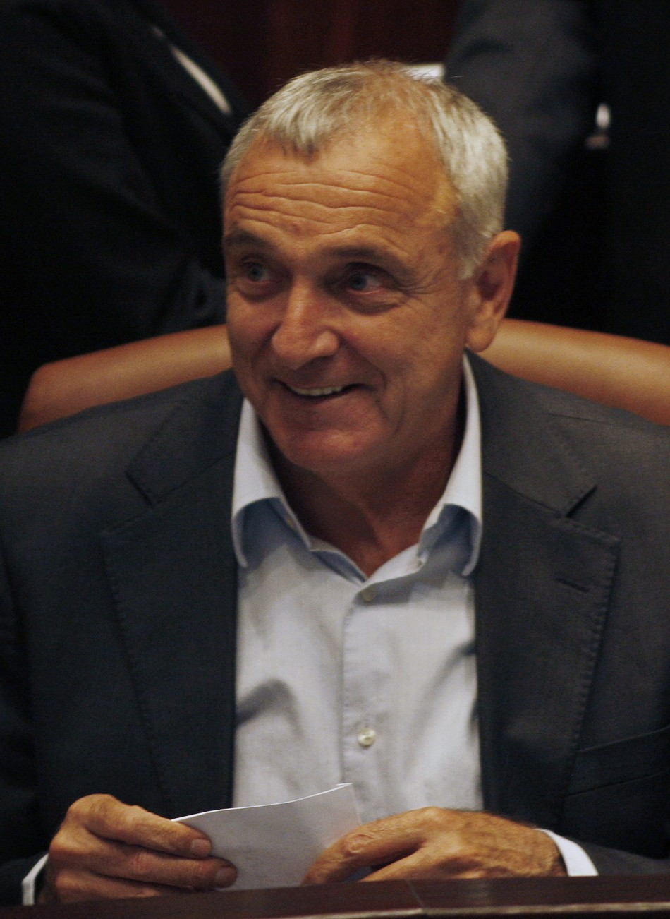 Israel's Internal Security Minister Aharonovitch attends session of Knesset in Jerusalem