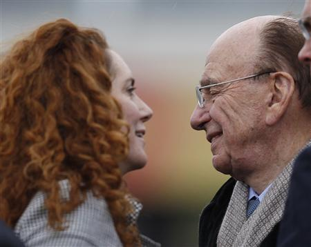 File photograph of Rebekah Brooks, chief executive of News International and Rupert Murdoch, News Corp chief executive