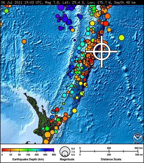 Latest NZ Earthquake