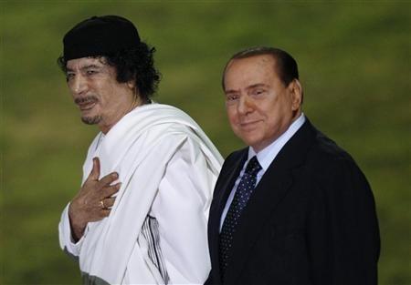 Italyquots Prime Minister Silvio Berlusconi and Libyan leader Muammar Gaddafi L