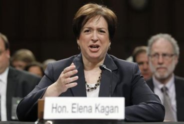 U.S. Supreme Court nominee Kagan answers questions during her Senate Judiciary Committee confirmation hearings in Washington