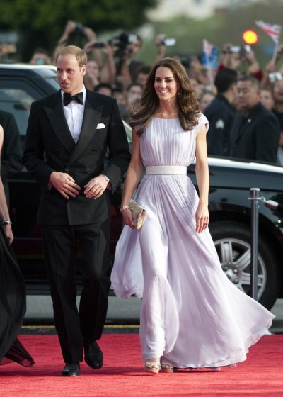 Britians Prince William and his wife Catherine, Duchess of Cambridge, arrive at the BAFTA Brits to Watch event in Los Angeles