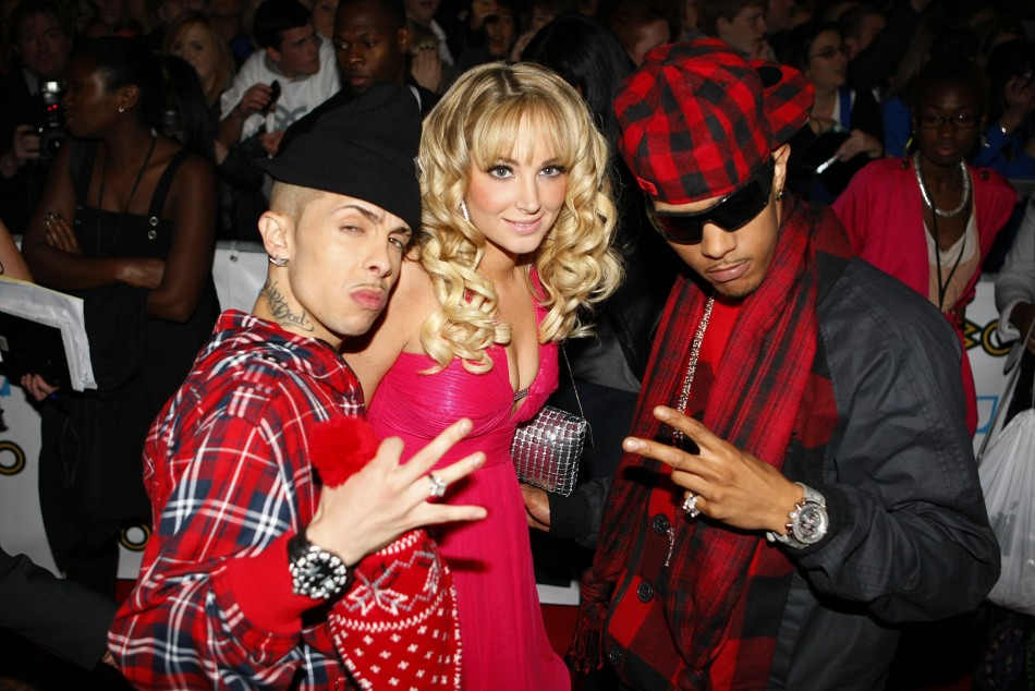 British band N-Dubz pose (Dappy left)