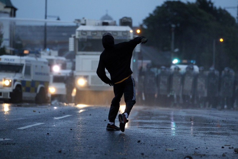 Second night of riots in Belfast