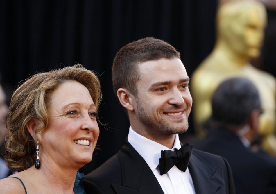 Justin Timberlake and his mother Lynn Harless