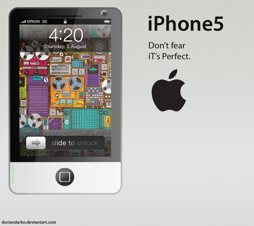 Insane Yet Amazing iPhone 5 Concept Design with Rubberband Electronics [VIDEOS]