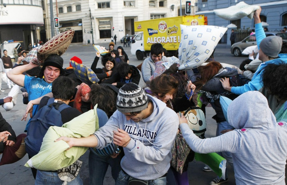 Pillow Fight For Best Education (Pictures)