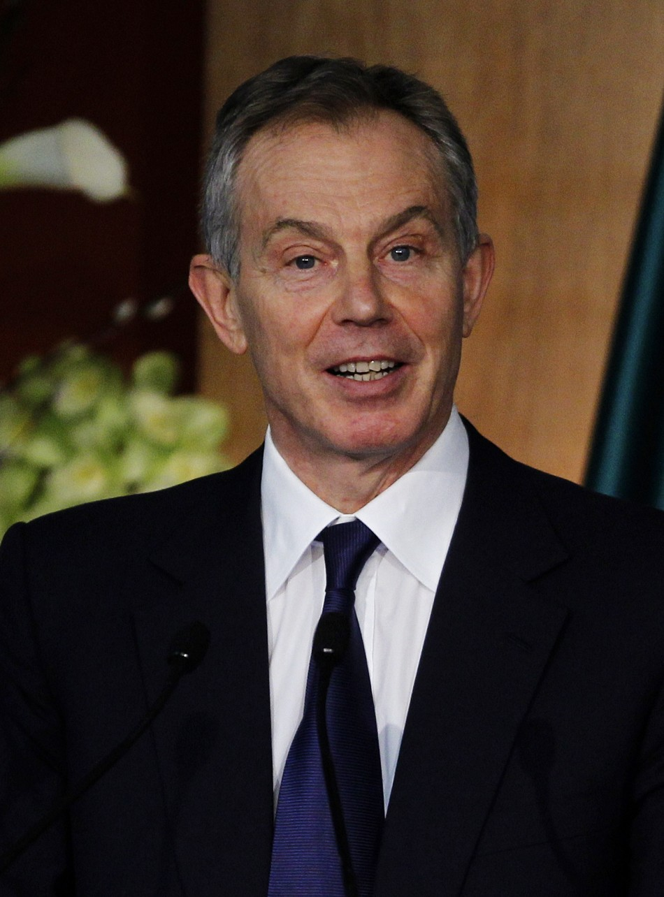 Former British Prime Minister Blair