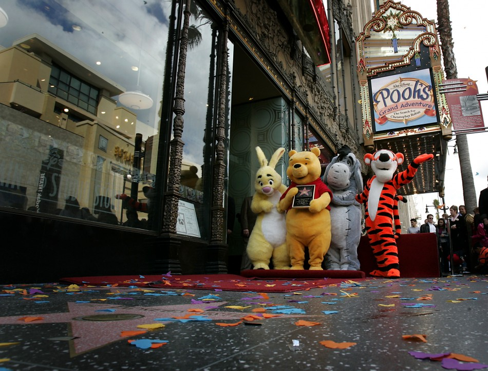 Winnie the Pooh and friends Rabbit, Eeyore, and Tigger