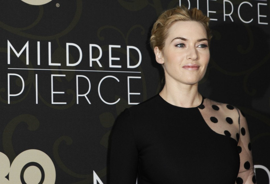 "Cast member Kate Winslet arrives at the premiere of the HBO Miniseries ""Mildred Pierce"" in New York City"