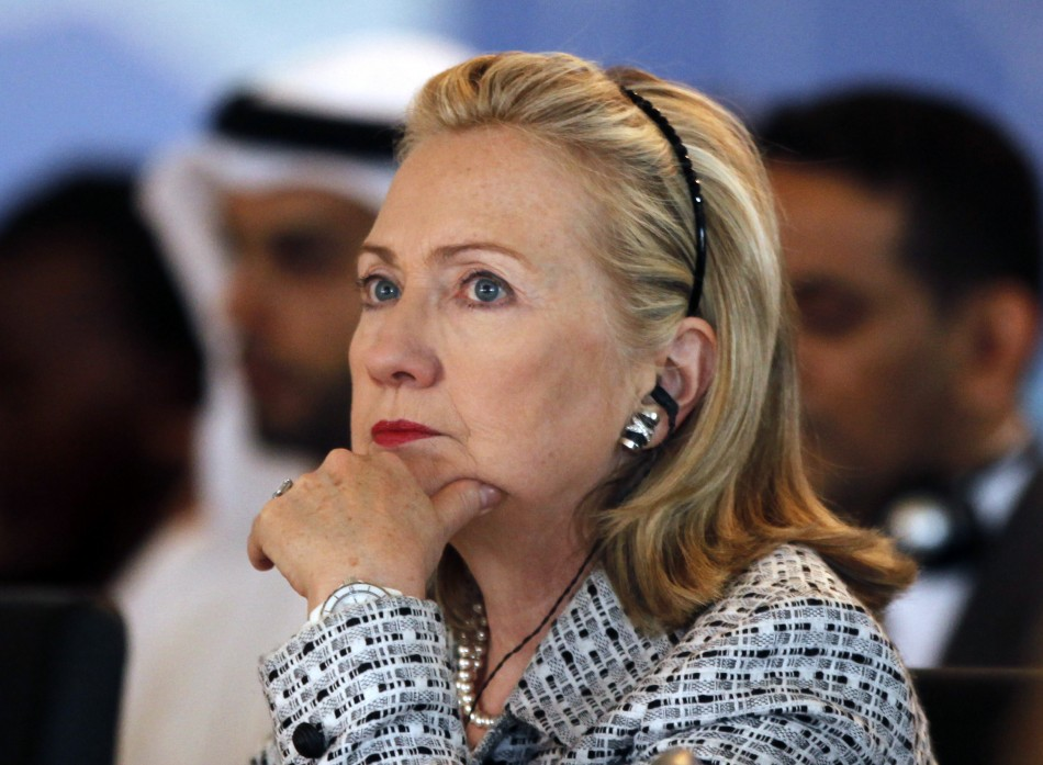 U.S. Secretary of State Hillary Clinton attends the Libya contact group meeting in Istanbul