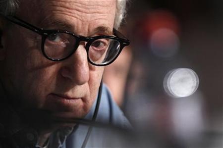 Director Woody Allen is proud papa