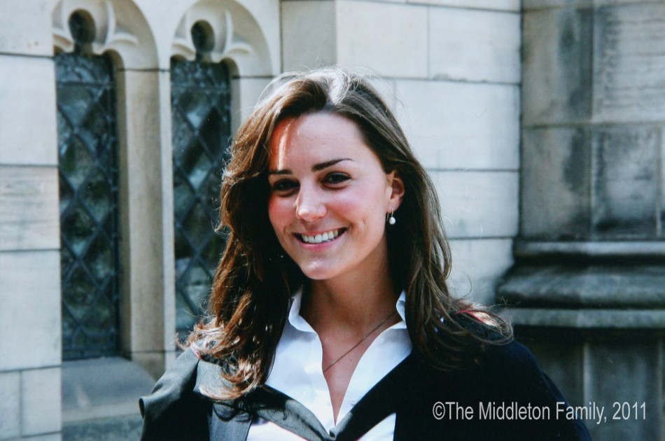 Kate Catherine Middleton on her graduation day, St. Andrews University.