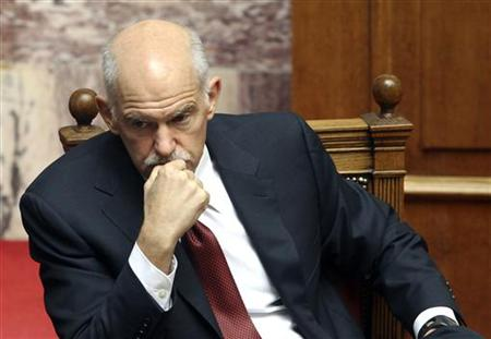 Greeces former Prime Minister George Papandreou