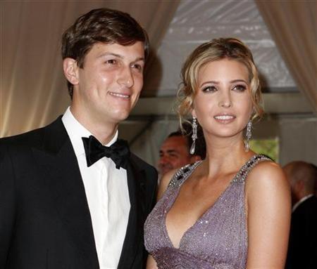 Jared Kushner and Ivanka Trump pose at the Metropolitan Museum