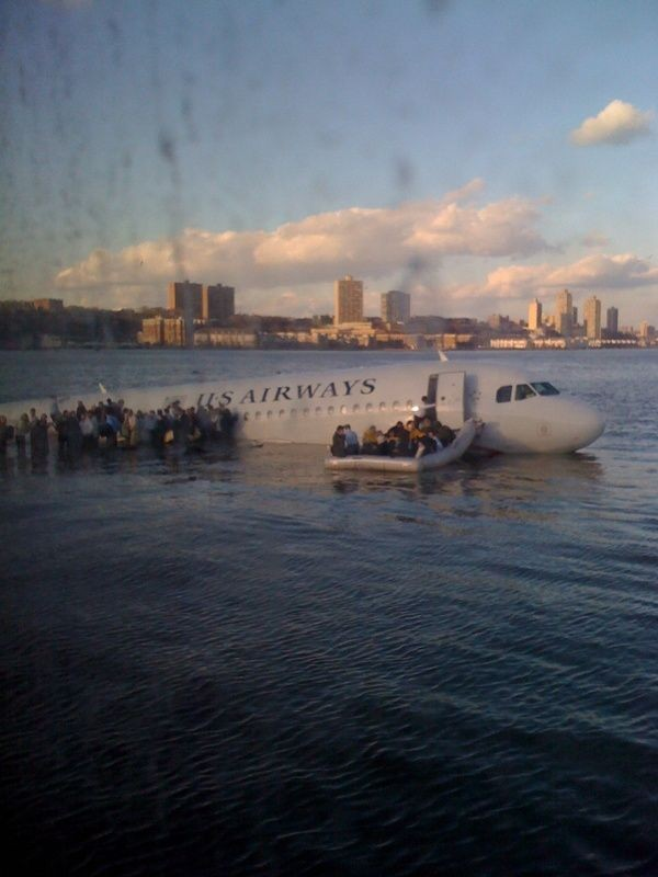 @jkrums Tweets Hudson River Plane Crash