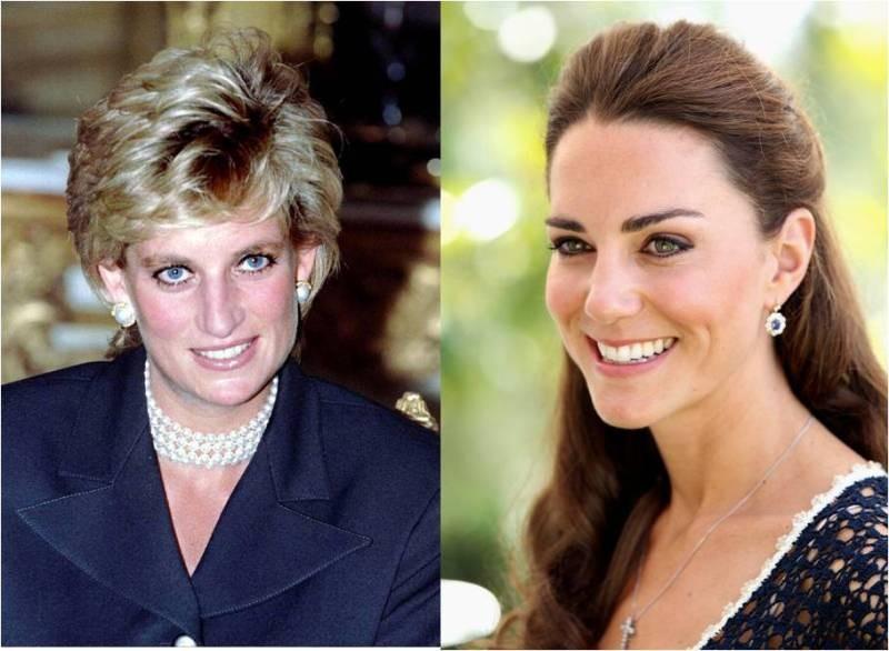 Princess Diana and Kate Middleton