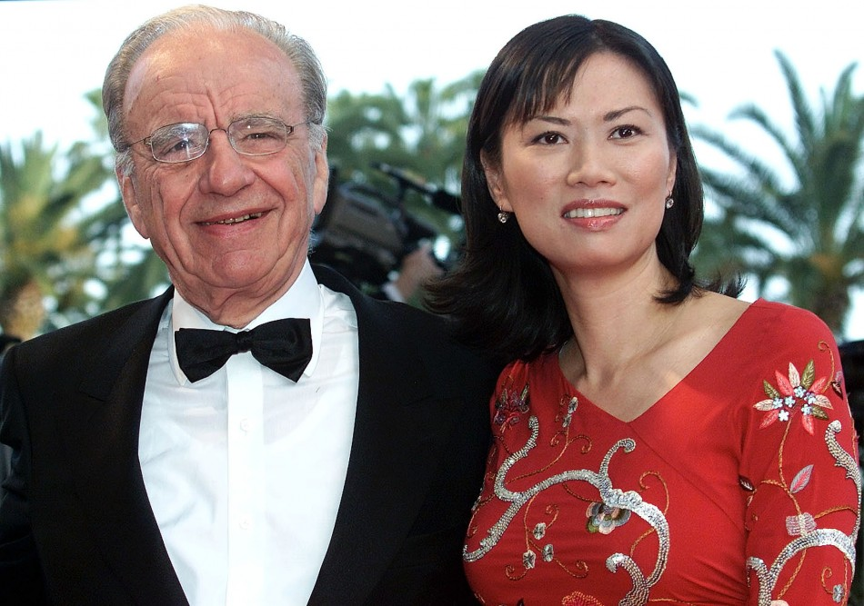 "RUPPERT MURDOCH AND HIS WIFE WENDI DENG ARRIVE FOR ""MOULIN ROUGE"" BY DIRECTOR BAZ LUHRMANN."