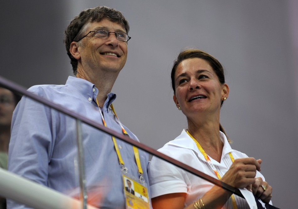 Microsoft Corp co-founder Bill Gates (L) and his wife Melinda Gates