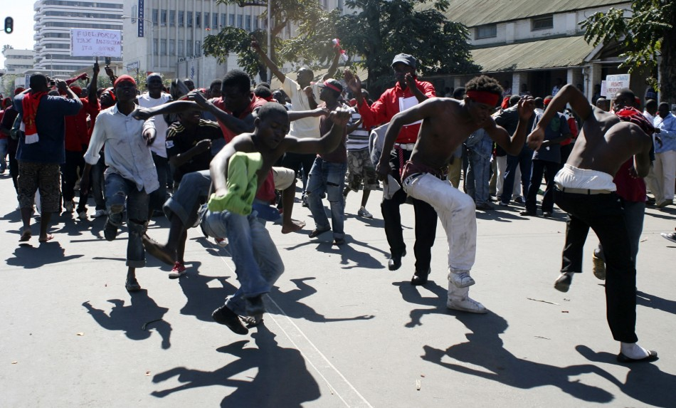 Protestors take to the streets of Malawi's commercial capital Blantyre