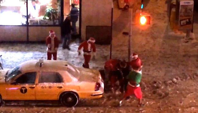 Bad Santa's Brawl in New York
