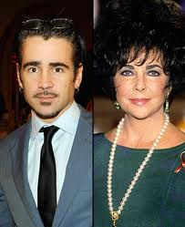 Colin Farrell and Elizabeth Taylor