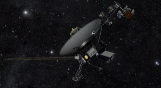 Artist impression of Voyager 1, the first man-made object to leave the solar system (NASA/JPL-Caltech)
