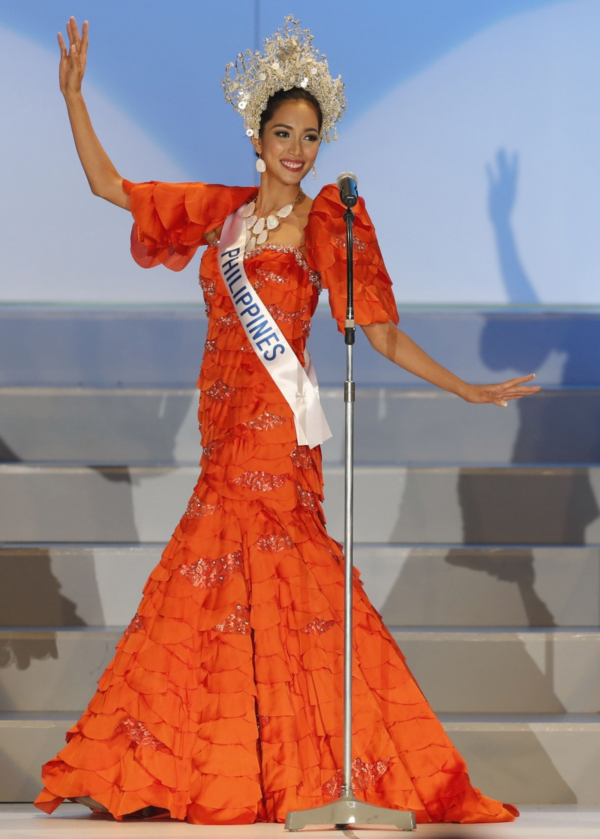 Miss International 2013 Bea Rose Santiago of the Philippines walks on stage during the national costume segment of the 53rd Miss International Beauty Pageant in Tokyo December 17, 2013.