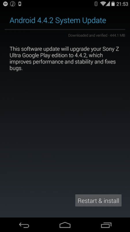 Sony Z Ultra Google Play Edition Gets Android 4.4.2 KOT49H Bug-Fix Update [Download Links]