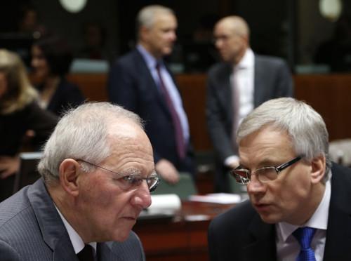 German Finance Minister Wolfgang Schaeuble EU