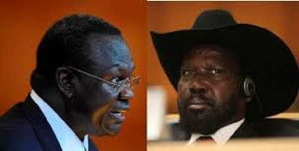 south sudan kiir (left) and macha
