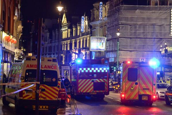 Emergency Services at London's Apollo Theatre