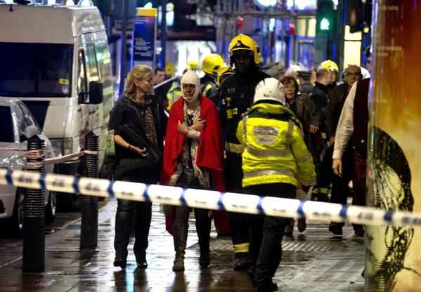 85 Walking Wounded After Apollo Theatre Roof Collapses