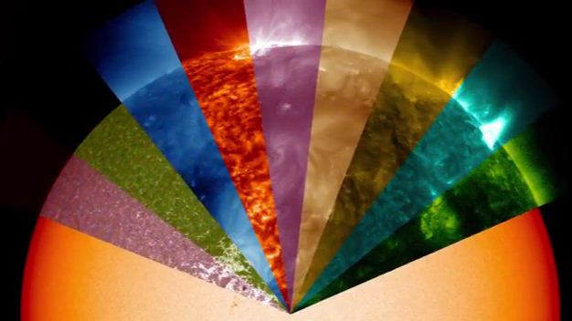 Nasa's video shows lights in all colours emitted by the sun but are invisible to the naked eye.