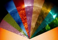 Nasa\'s video shows lights in all colours emitted by the sun but are invisible to the naked eye.