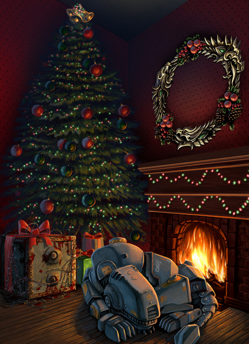 Bethesda Christmas Card 2013 Fallout 4