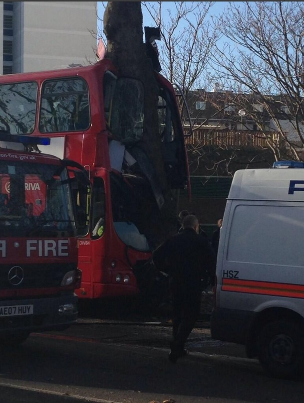 london bus crash