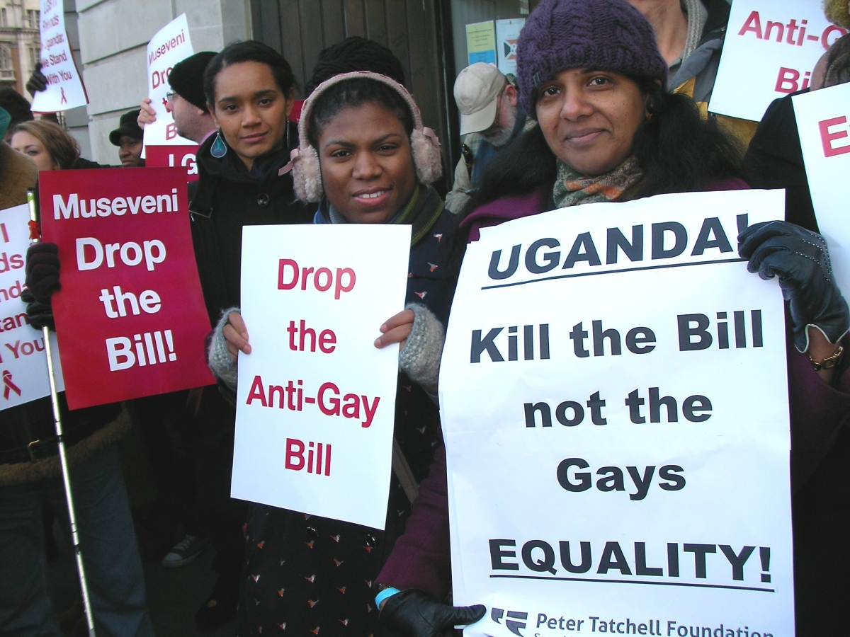 London protest against the Uganda Anti-Homosexuality Bill