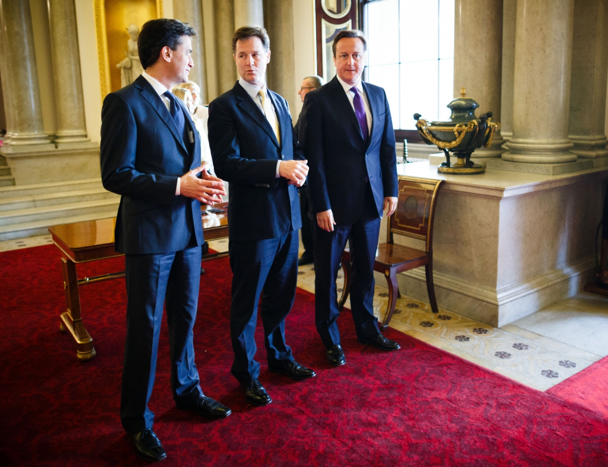 Miliband, Clegg and Cameron